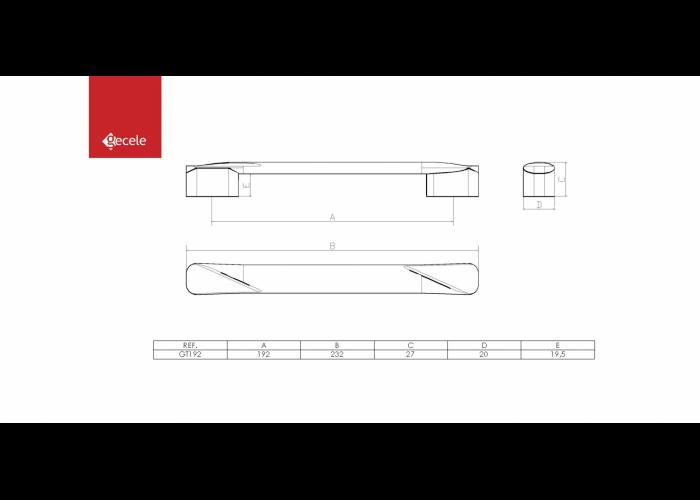 PUXADOR GOOT FURACAO 192MM BRONZE FOSCO  - GECELE