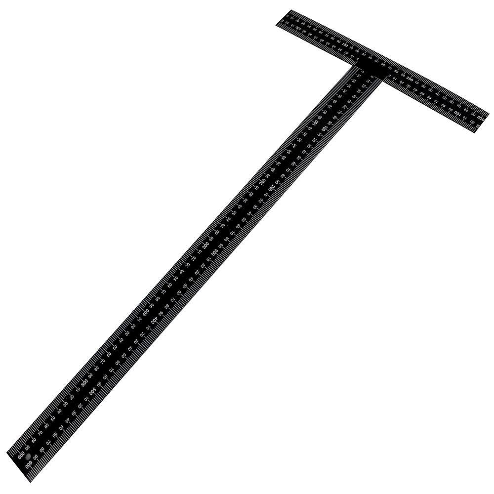 Esquadro T em Aço com Graduação 300x600mm - Black Jack