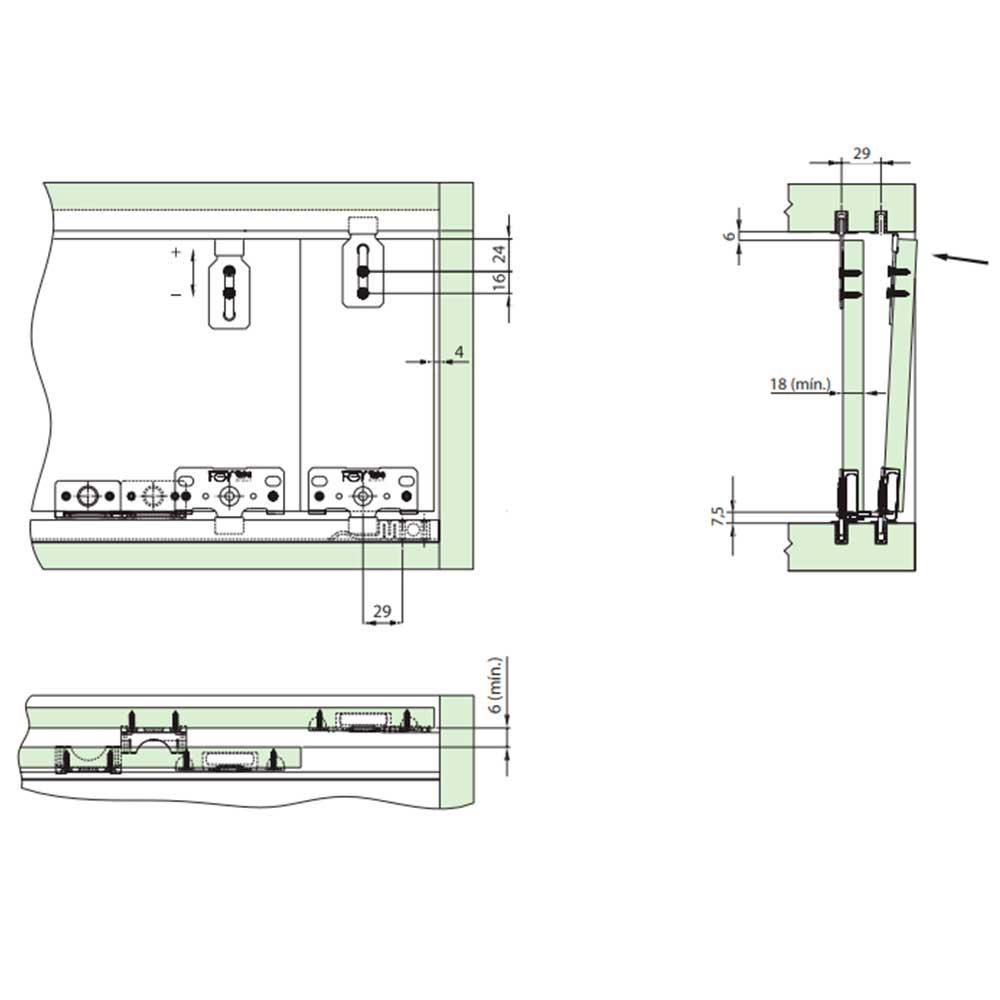 Rodízio SD 401 p/ Portas de Correr - FGVTN