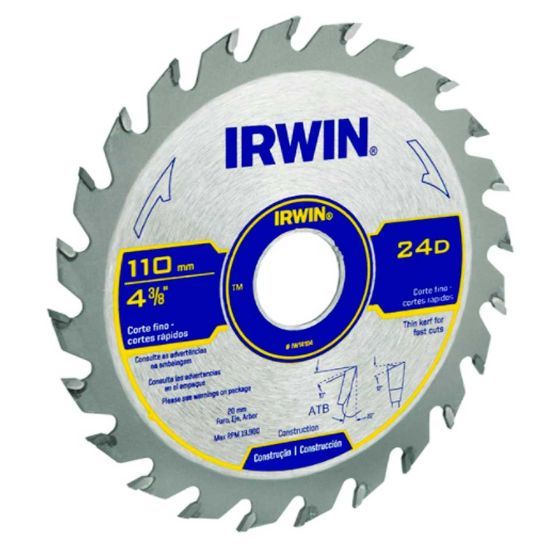 Serra Circular Cortes Rapidos  184Mmx60Dx20Mm - Irwin