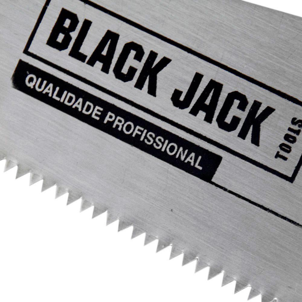 """Serrote Carpinteiro com Cabo de Madeira 22"""" - Black Jack"""