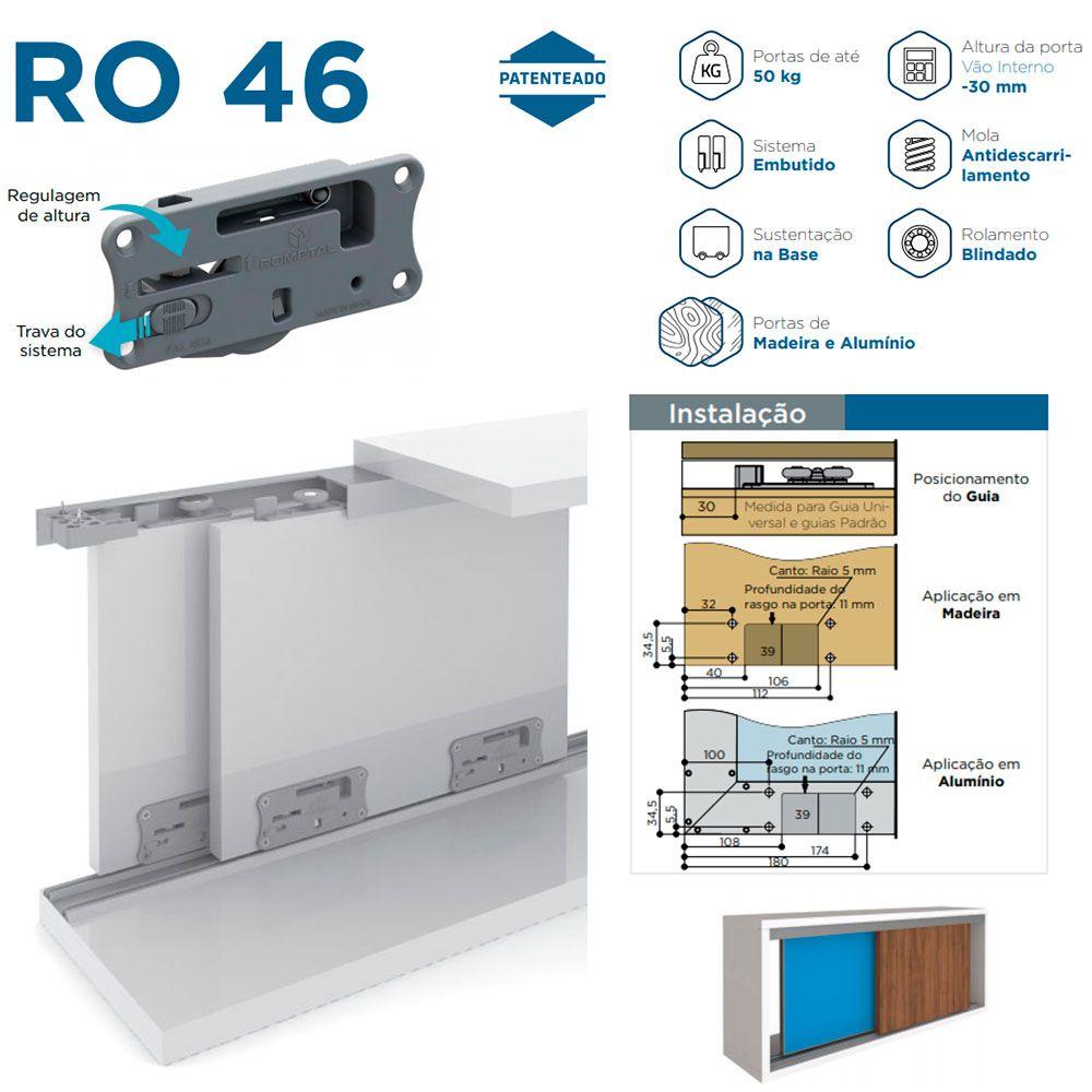 Sistema Deslizante RO 46 4030 Universal - Rometal
