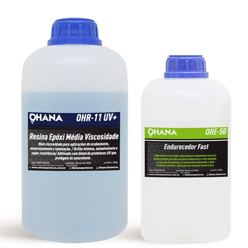 Kit Sistema Fast  1 Kg de Resina + 500g de Endurecedor - Ohana