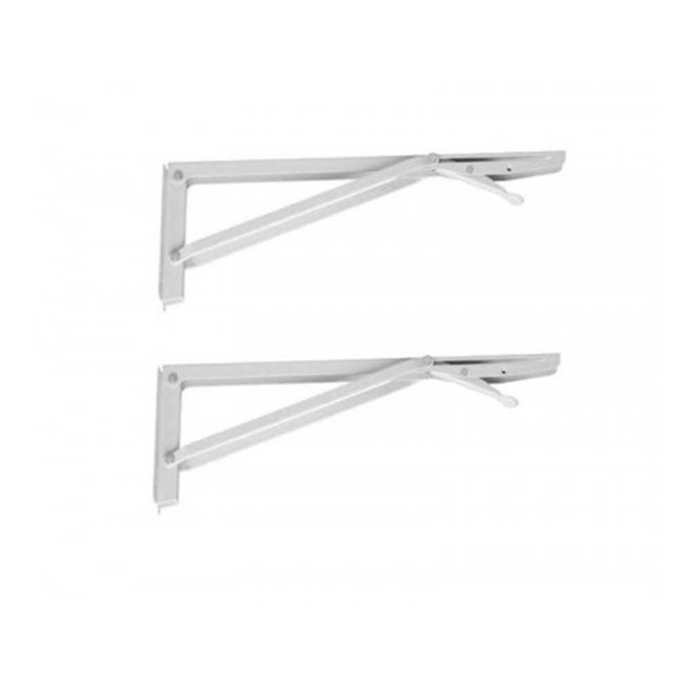 Suporte Dobrável para Mesas e Prateleiras 50cm Branco - Krok