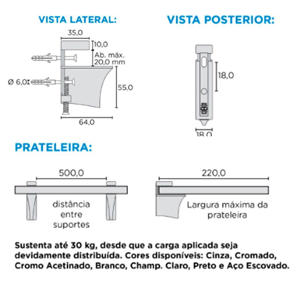 Suporte para Prateleiras SP-160 AE - Rometal