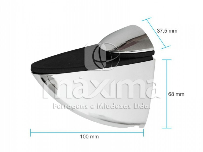 SUPORTE TUCANO GRANDE CROMADO (UNIDADE) - MAX 170-1 - MAXIMA