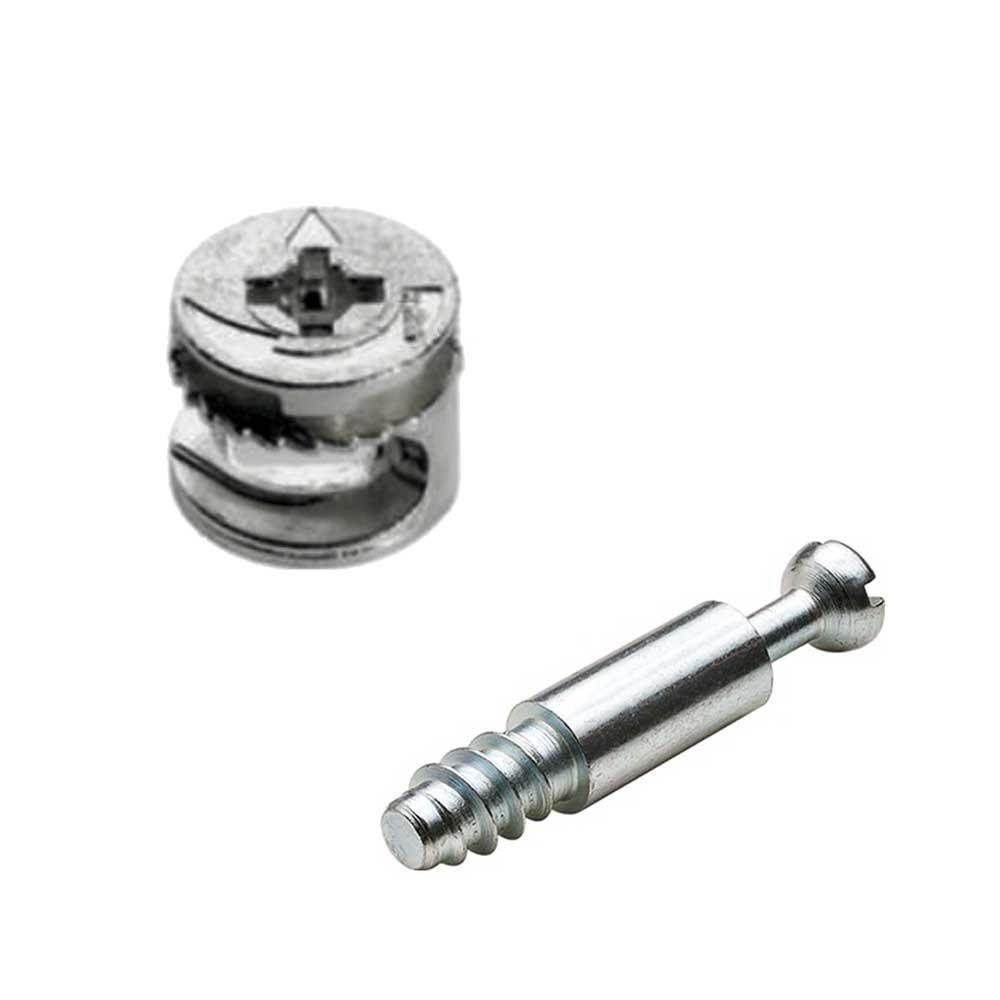 Tambor Bigfix (Minifix) 15x11 mm + Parafuso Simples(25 peças) - BigFer