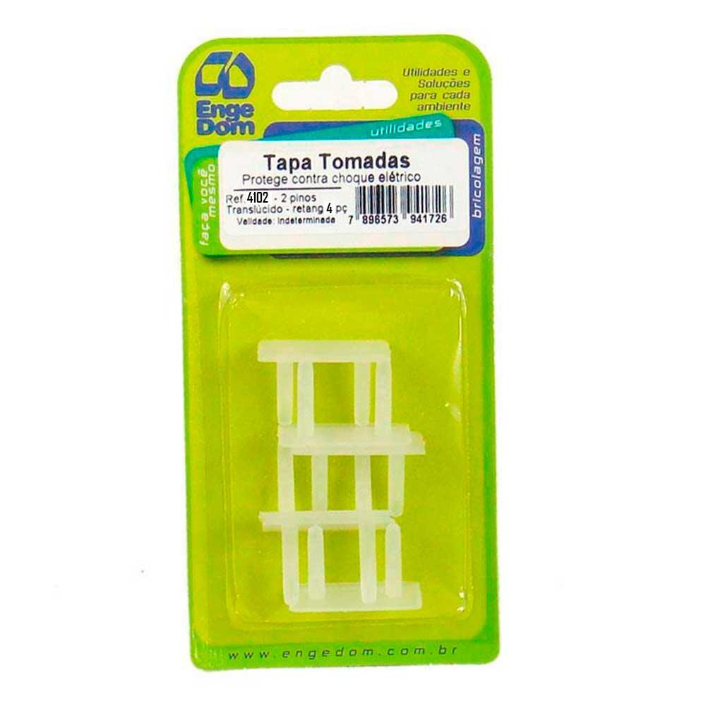 Tapa Tomada Anti-Choque Translúcido (4 peças) - Engedom