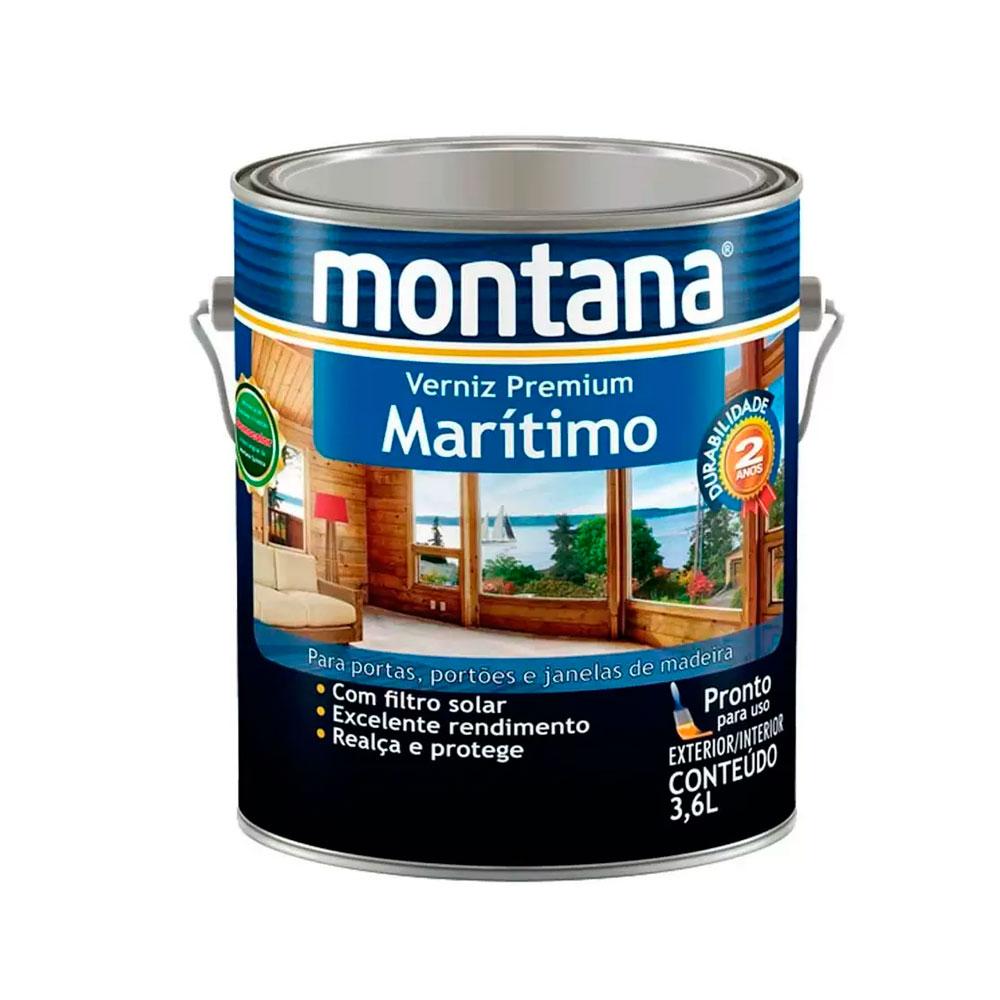 Verniz  Marítimo Natural Acetinado 3,6 L - Montana