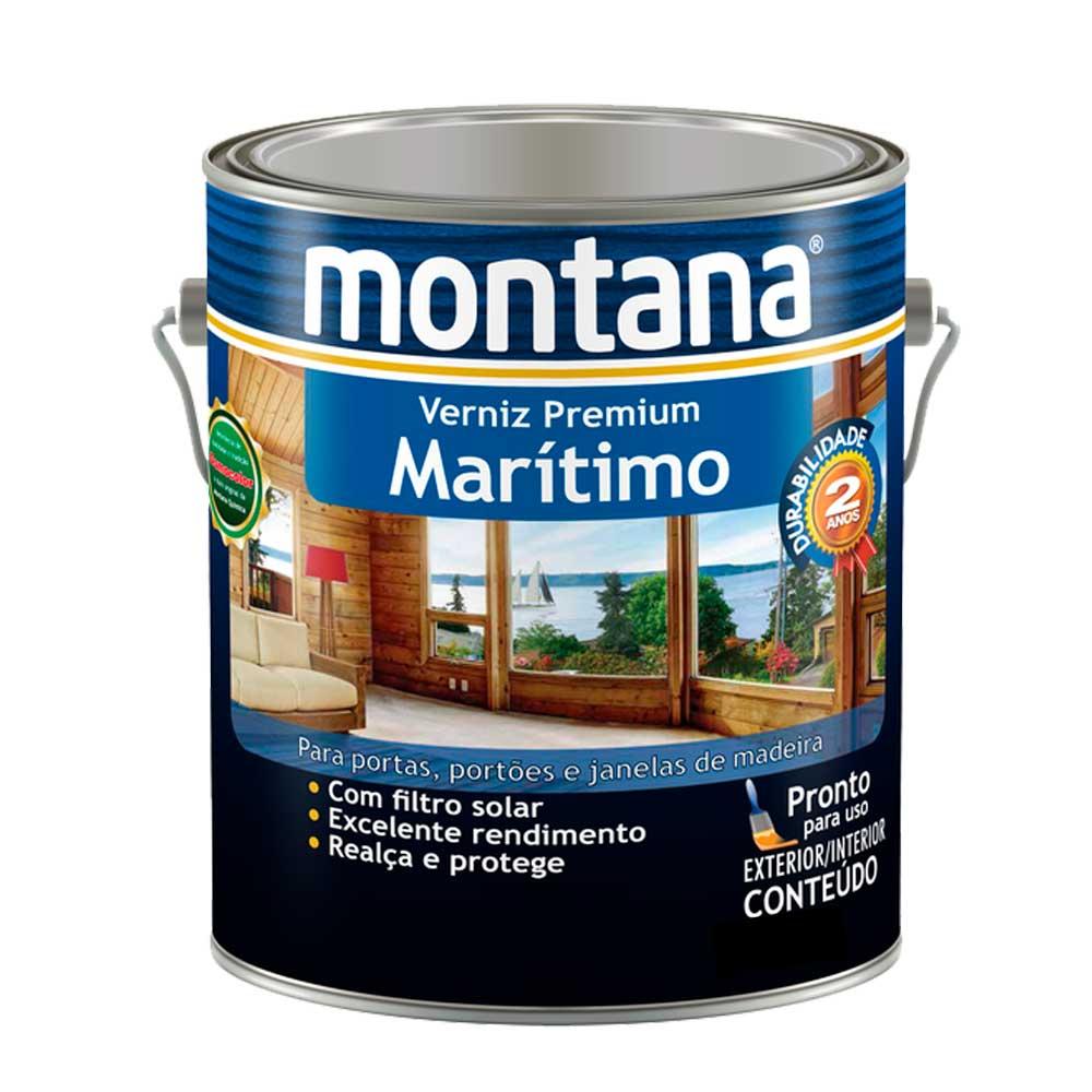 Verniz Marítimo Natural Brilhante 0,9L - Montana
