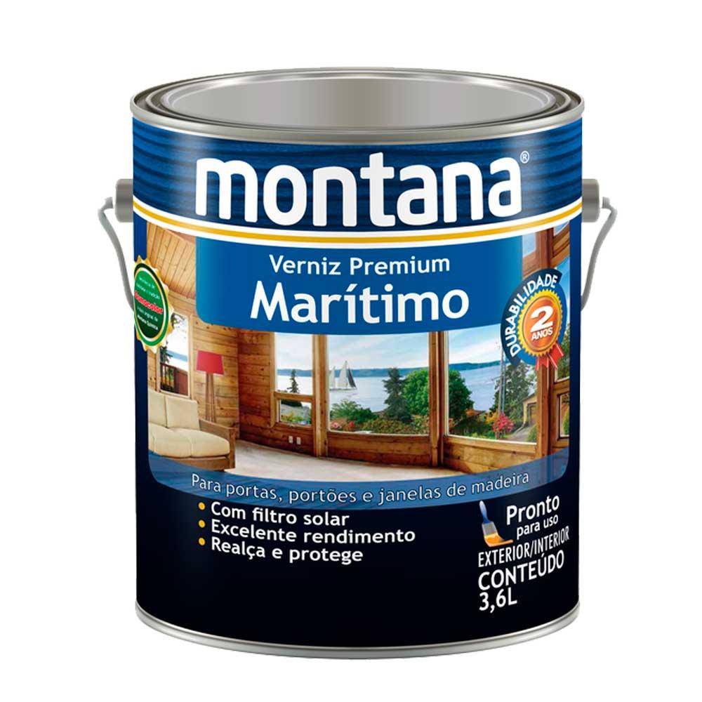 Verniz Premium Marítimo Brilho 3,6 L - Montana