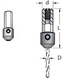 WPW - ADAPTADOR DE MANDRIL COMBINADO -D2MM (38L - d10)