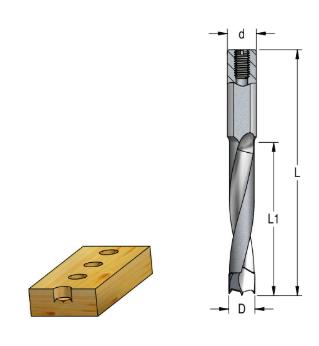 WPW - BROCA HELICOIDAL FNP - 8mm x 27mm x 57,5mm H10X27