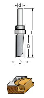 WPW - FRESA 2 CORTES C/ ROL HASTE - 28.6MM X 38MM - H12/90