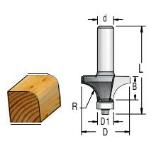 Fresa Perfil Arredondado R9.5 C/ Rolamento 9,5Mm - 28.6Mm X 17Mm -H6/51 - Wpw