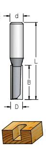 Fresa Reta Profissional 12mm X 51mm -Haste 12 [P281202] - WPW