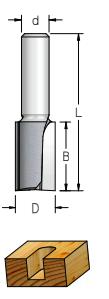 Fresa Reta Profissional 19mm X 25mm -Haste 12 [P241902] - WPW