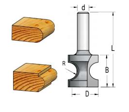 Fresa Semi Circular (R2,8) - 15,1Mm X 13Mm - H6/41 - RF02803 - Wpw