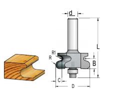Fresa Tipo Puxador C/ Rolamento (R2,5) - 44Mm X 12 - H12/76 RO70012 - Wpw
