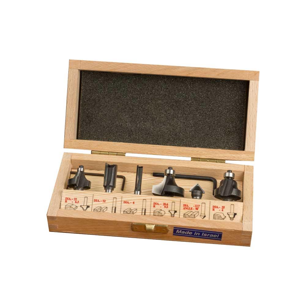 WPW - Kit 6 Fresas Woodpecker - H6