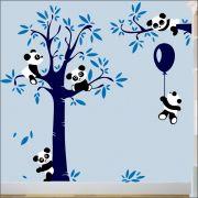Adesivo Quarto Infantil Arvore Bebe Panda Zoo Md498