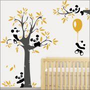 Adesivo Quarto Infantil Arvore Bebe Panda Zoo Md500