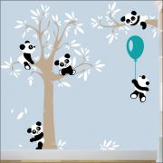 Adesivo Quarto Infantil Arvore Bebe Panda Zoo Md504