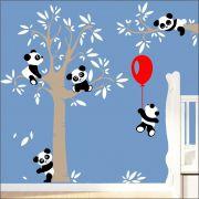 Adesivo Quarto Infantil Arvore Bebe Panda Zoo Md505