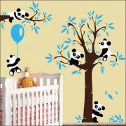 Adesivo Quarto Infantil Arvore Bebe Panda Zoo Md526