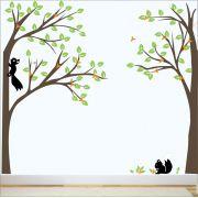 Adesivo Quarto Infantil Arvore Esquilos Zoo Md340