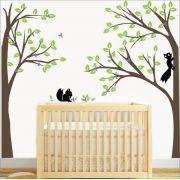 Adesivo Quarto Infantil Arvore Esquilos Zoo Md341