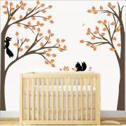 Adesivo Quarto Infantil Arvore Esquilos Zoo Md343