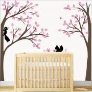 Adesivo Quarto Infantil Arvore Esquilos Zoo Md347