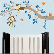 Adesivo Quarto Infantil Arvore Passaro Macaco Zoo Md493