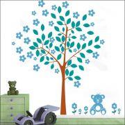 Adesivo Quarto Infantil Arvore Ursinho Zoo Md294