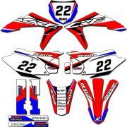 Adesivos Gráficos Crf230 2015/2019 Tanque Biker F-19 CRFB-71