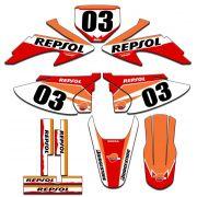 Kit adesivos Gráficos para CRF-230 2008 a 2014 Modelo CRF-04