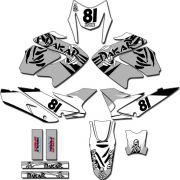 Kit adesivos Gráficos para NXR Bros 150 2009 a 2012 Modelo BROS-130B