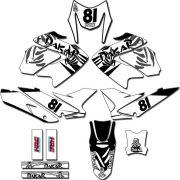 Kit adesivos Gráficos para NXR Bros 150 2009 a 2012 Modelo BROS-133B