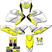 Kit adesivos Gráficos para NXR Bros 150 2009 a 2012 Modelo BROS-145B