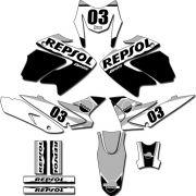 Kit adesivos Gráficos para NXR Bros 150 2009 a 2012 Modelo BROS-149B