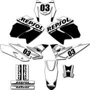 Kit adesivos Gráficos para NXR Bros 150 2009 a 2012 Modelo BROS-150B