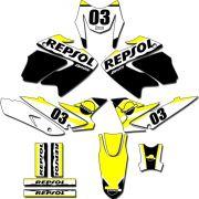 Kit adesivos Gráficos para NXR Bros 150 2009 a 2012 Modelo BROS-152B