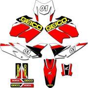 Kit adesivos Gráficos para NXR Bros 150 2009 a 2012 Modelo BROS-54B