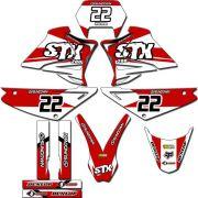 Kit adesivos Gráficos para STX-200 Modelo STX-87