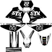 Kit adesivos Gráficos para STX-200 Modelo STX-91
