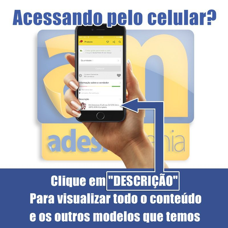 Kit adesivos Gráficos para CRF-230 2015 a 2019 Modelo CRFM-40