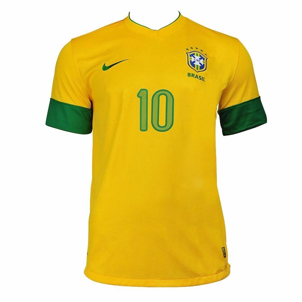 Camisa Brasil I 2012 Juvenil - nº 10 - NT Sports 8c84275738050