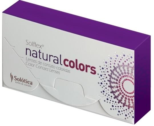 LENTES DE CONTATO SOLOTICA SOLFLEX NATURAL COLORS - COM GRAU - USO MENSAL   - Lentes de Contato MAF