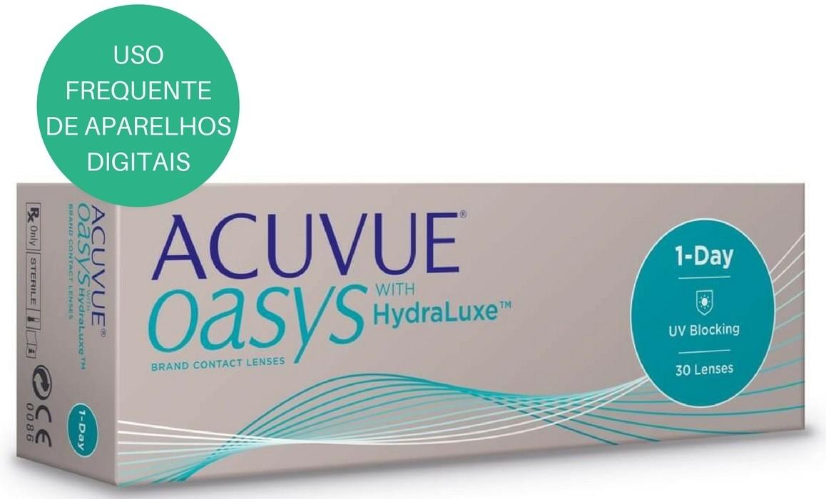 Lentes de Contato Acuvue Oasys 1 Day com Hrydraluxe ( Lente de Silicone de Hidrogel)  - Lentes de Contato MAF